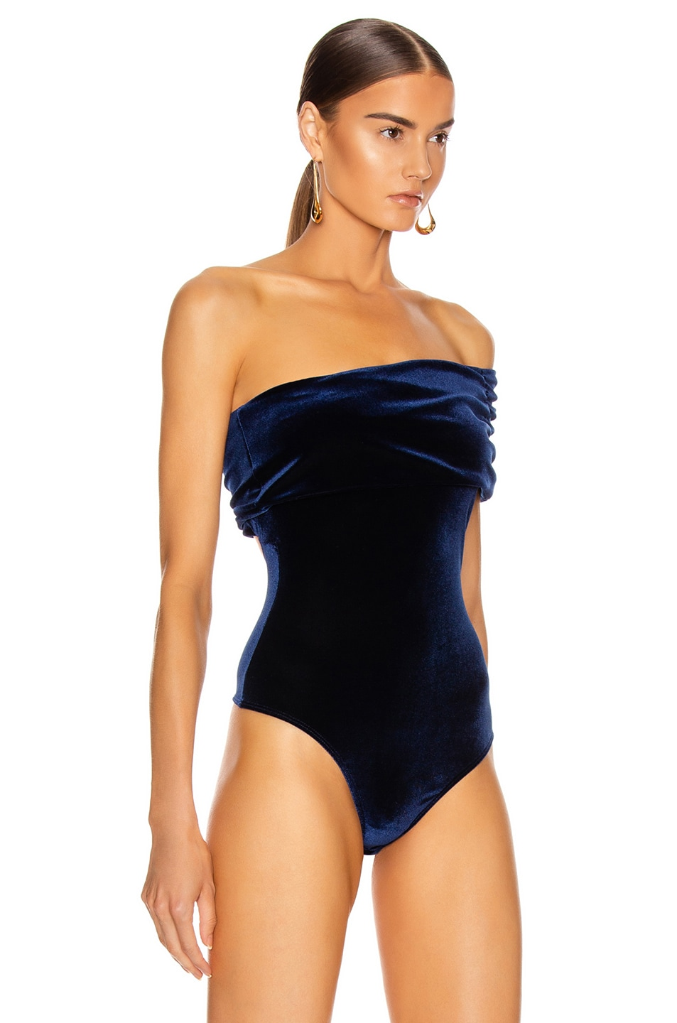 Image 3 of ALIX NYC Aurelia Bodysuit in Midnight