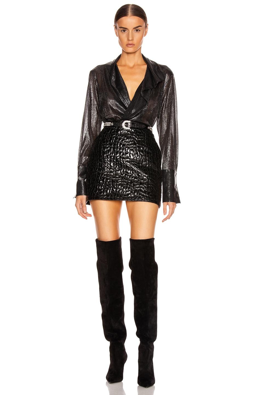 Image 5 of ALIX NYC Reade Metallic Bodysuit in Charcoal Metallic