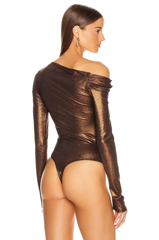 Image 5 of ALIX NYC Willett Metallic Bodysuit in Bronze