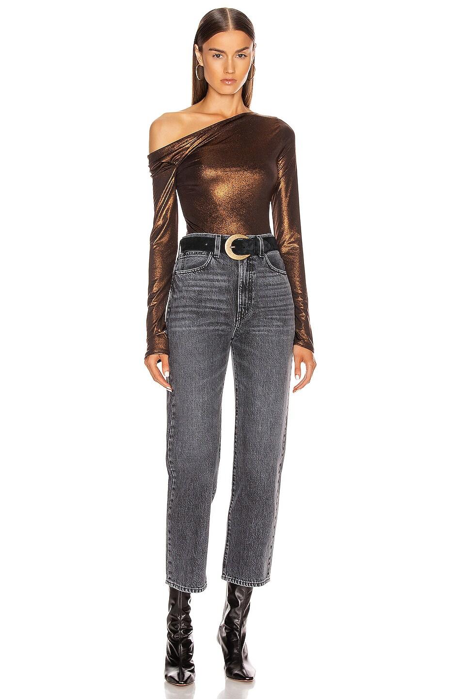 Image 6 of ALIX NYC Willett Metallic Bodysuit in Bronze