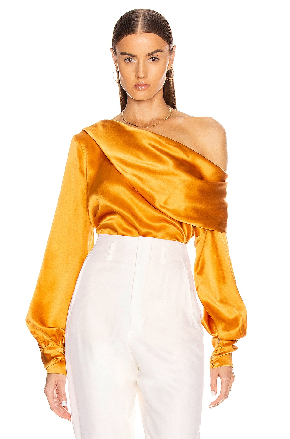 Image 1 of ALIX NYC Catherine Top in Saffron