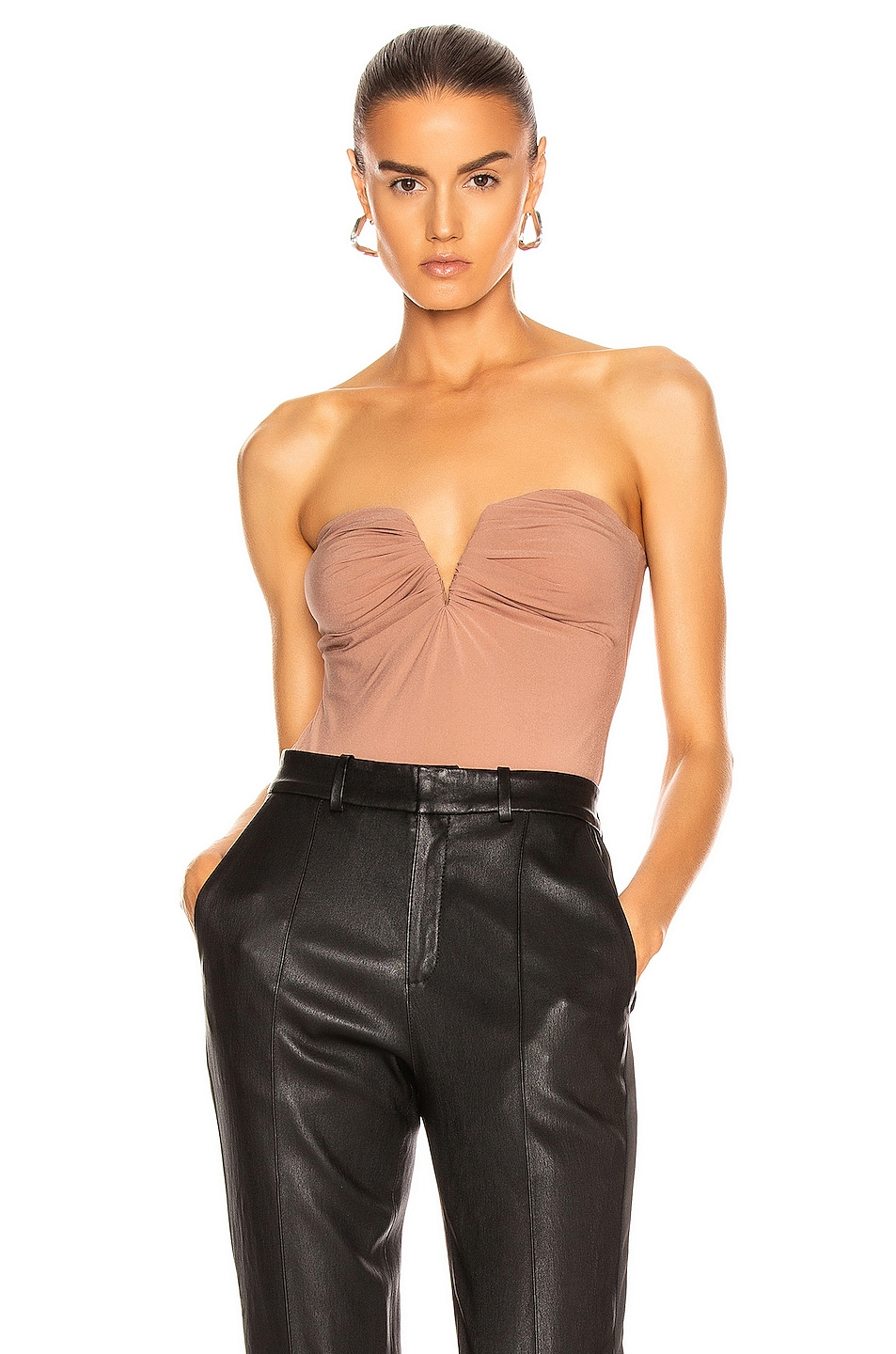 Image 1 of ALIX NYC Porter Bodysuit in Mocha