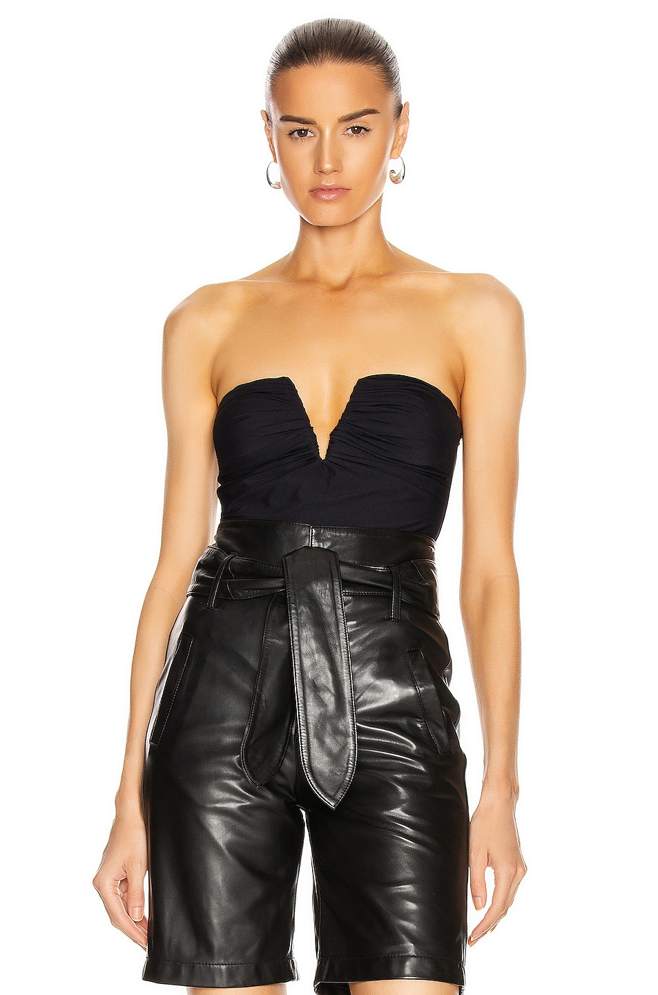 Image 1 of ALIX NYC Porter Bodysuit in Black