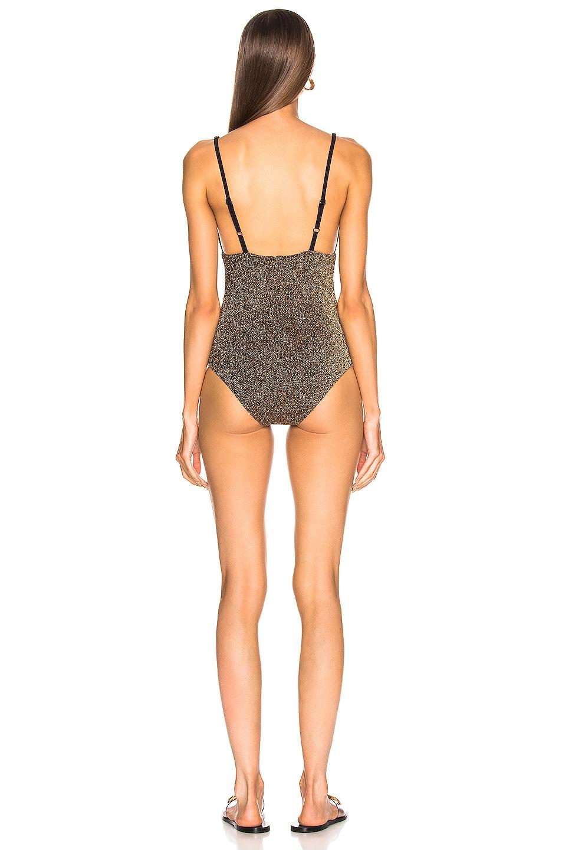 Image 3 of ALIX NYC Surfside Glitter Swimsuit in Oro Glitter