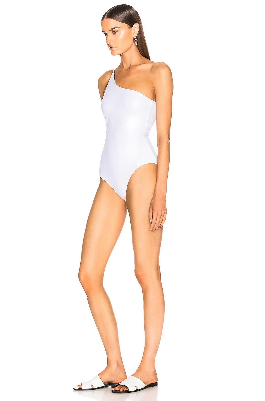 Image 3 of Alix Bonita Metallic Swimsuit in Oyster & Ivory