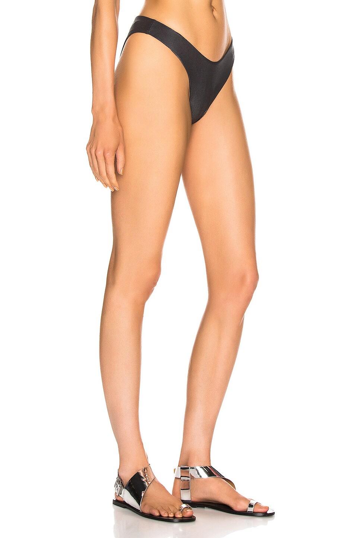 Image 2 of Alix Espanola Metallic Bikini Bottom in Black Metallic & Black