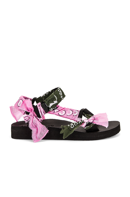 Image 1 of Arizona Love Trekky Bandana Sandal in Pink & Green Bandana