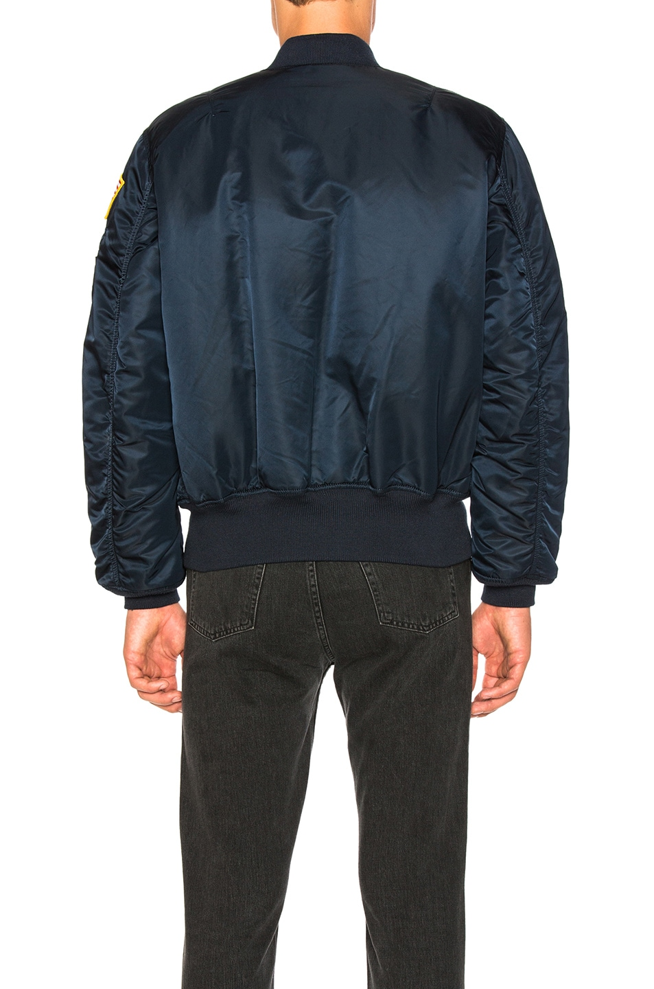 Image 5 of ALPHA INDUSTRIES Nasa MA 1 Bomber in Replica Blue