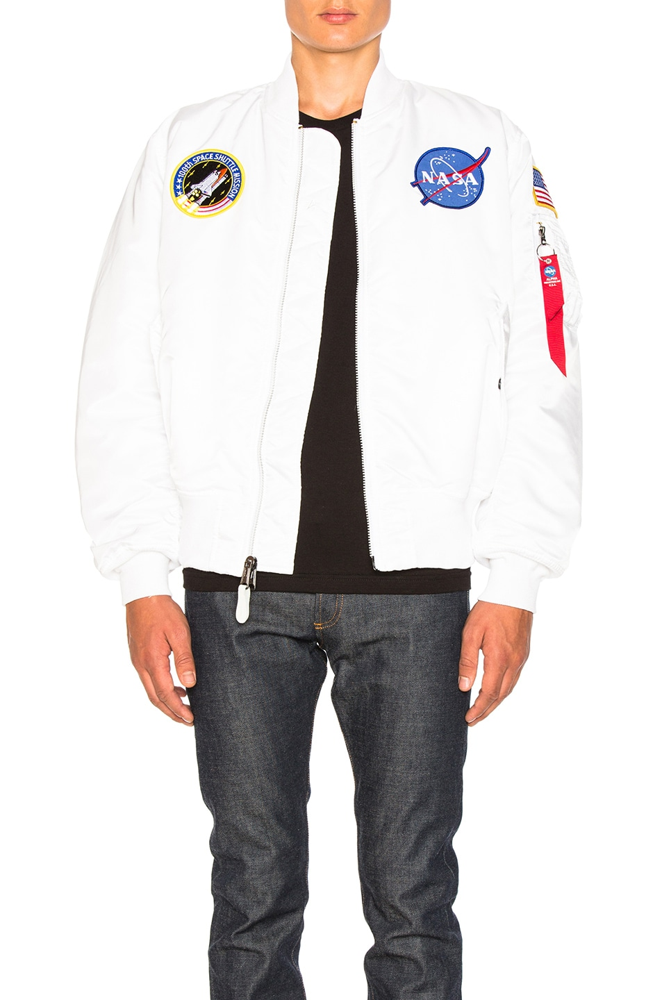 Image 1 of ALPHA INDUSTRIES MA 1 Nasa Bomber in White