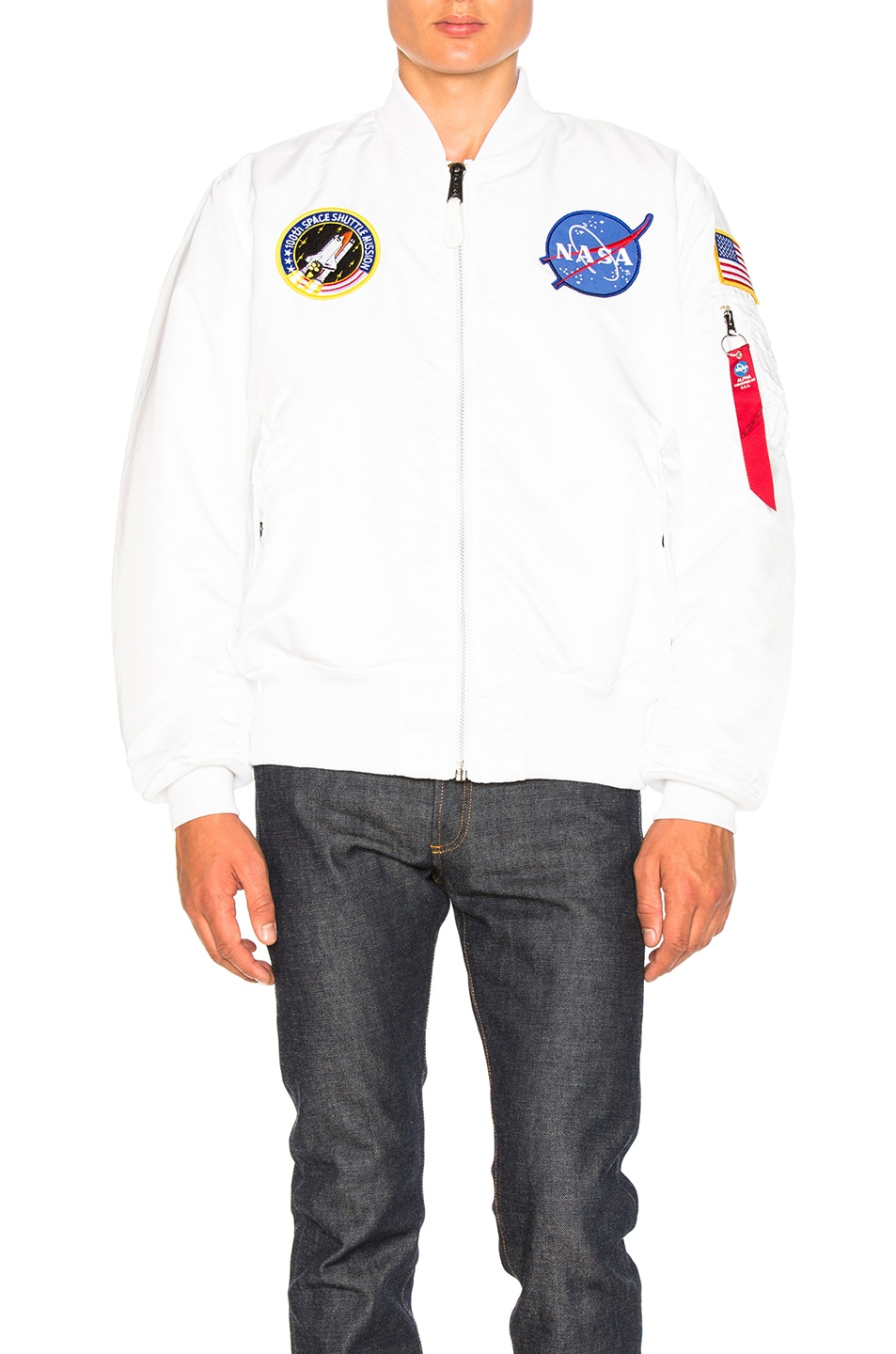 Image 2 of ALPHA INDUSTRIES MA 1 Nasa Bomber in White