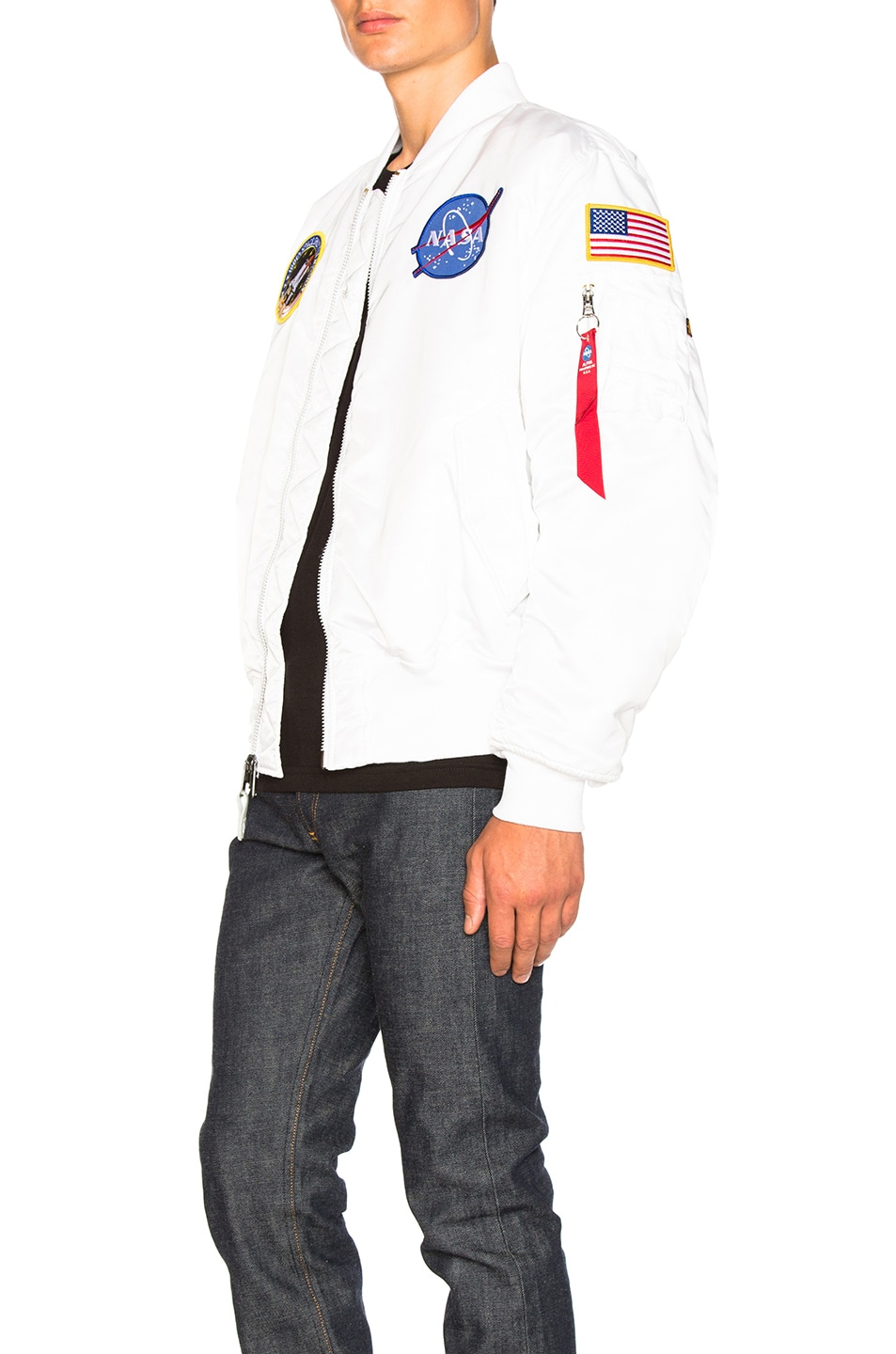 Image 4 of ALPHA INDUSTRIES MA 1 Nasa Bomber in White