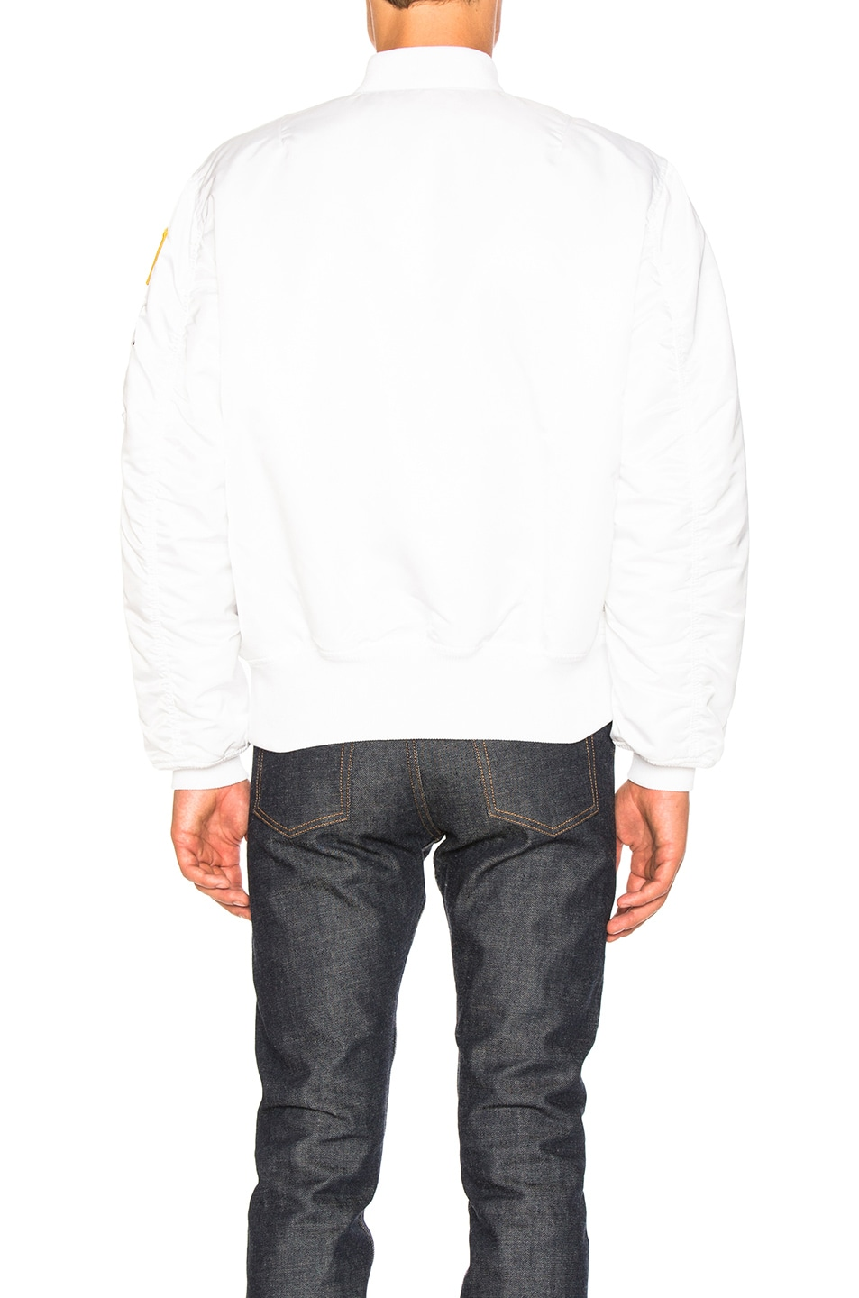 Image 5 of ALPHA INDUSTRIES MA 1 Nasa Bomber in White