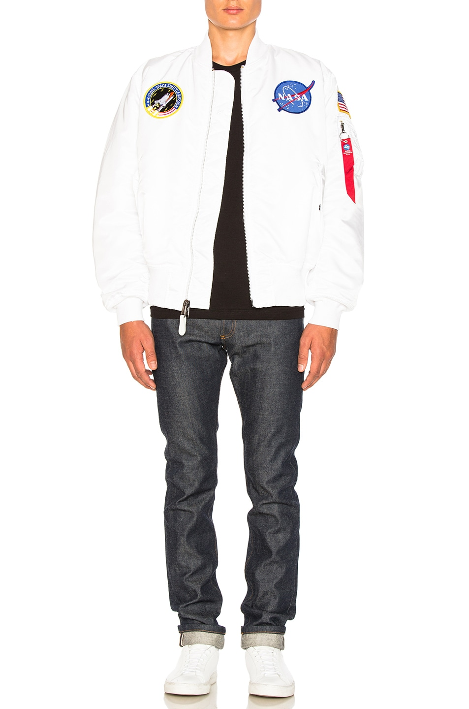 Image 6 of ALPHA INDUSTRIES MA 1 Nasa Bomber in White