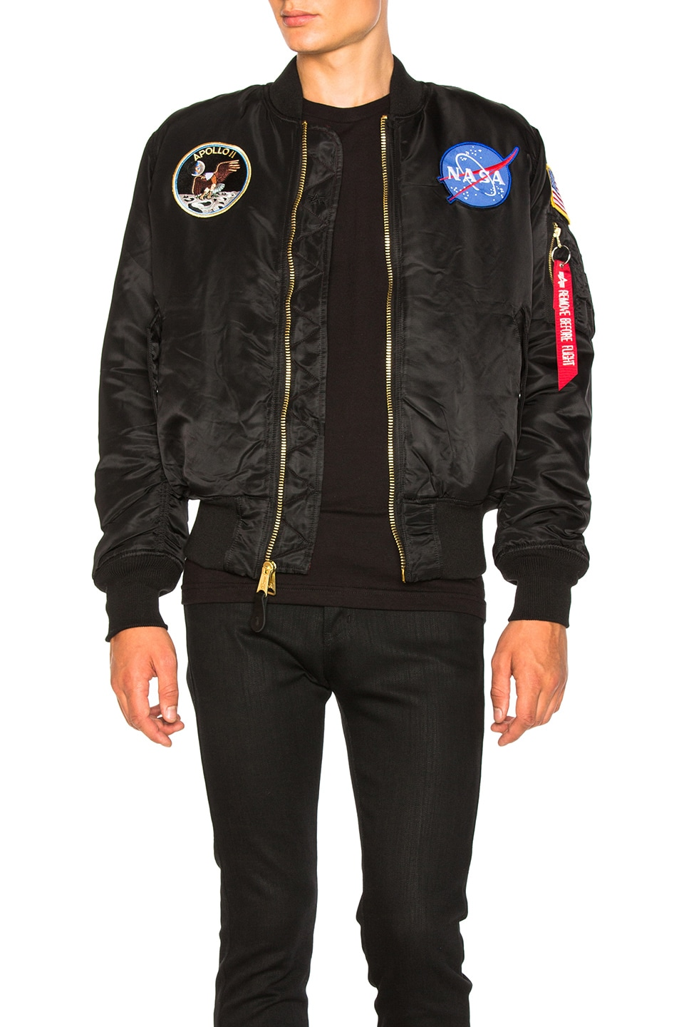 Image 2 of ALPHA INDUSTRIES Apollo MA-1 Bomber in Black