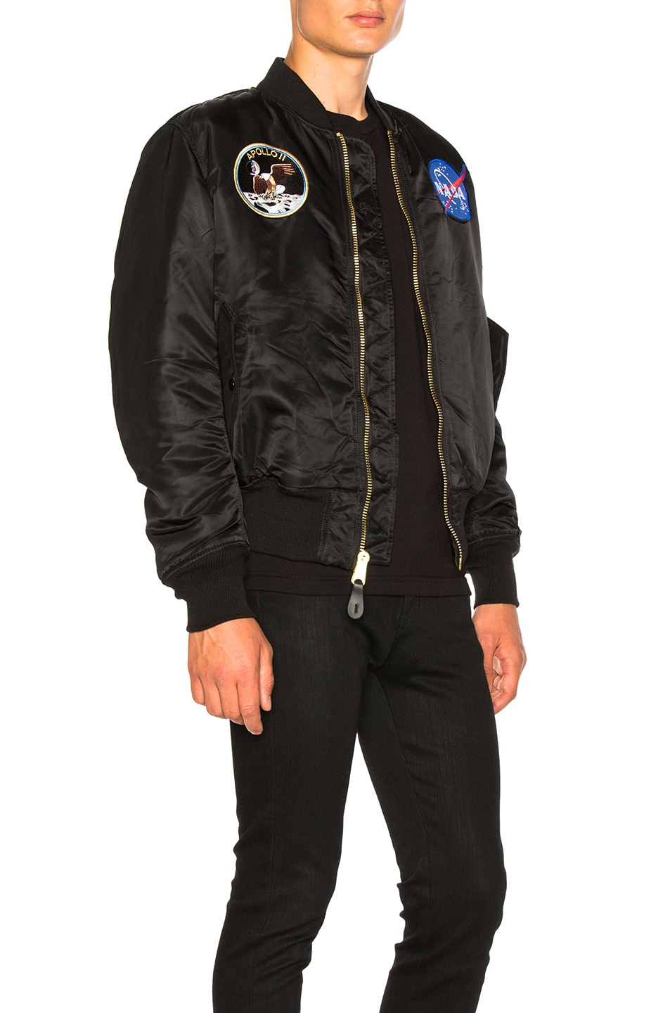 Image 4 of ALPHA INDUSTRIES Apollo MA-1 Bomber in Black