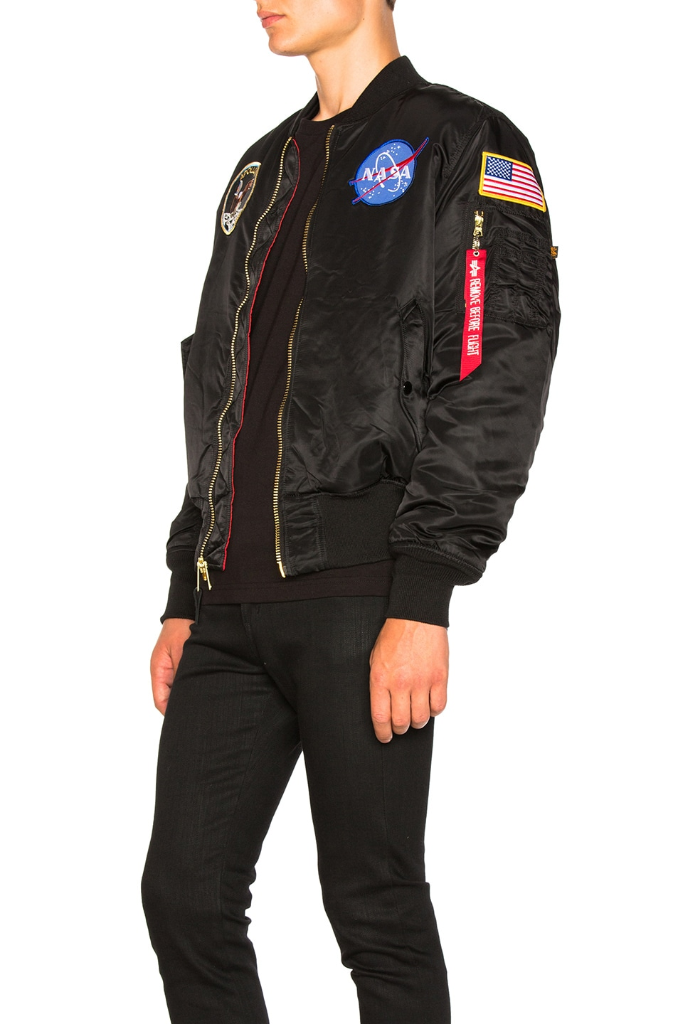 Image 5 of ALPHA INDUSTRIES Apollo MA-1 Bomber in Black