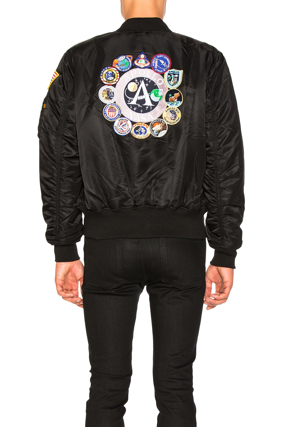 Image 6 of ALPHA INDUSTRIES Apollo MA-1 Bomber in Black