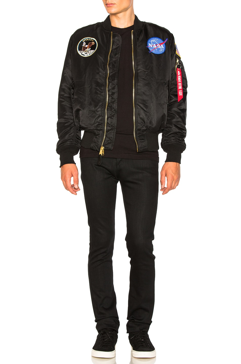 Image 7 of ALPHA INDUSTRIES Apollo MA-1 Bomber in Black