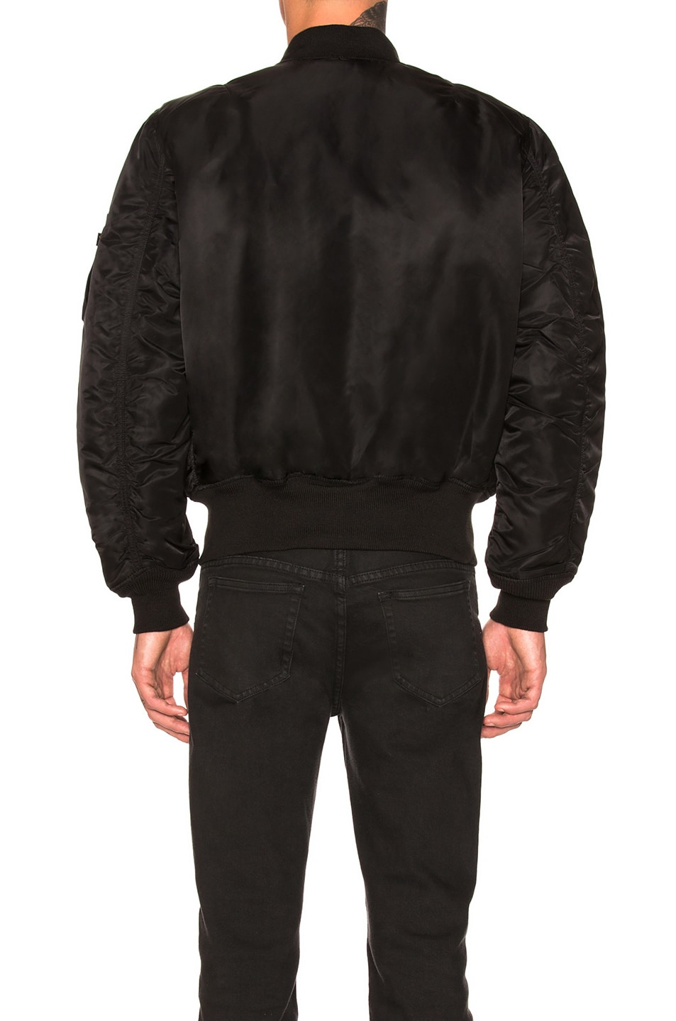 Image 5 of ALPHA INDUSTRIES MA-1 Blood Chit Bomber in Black