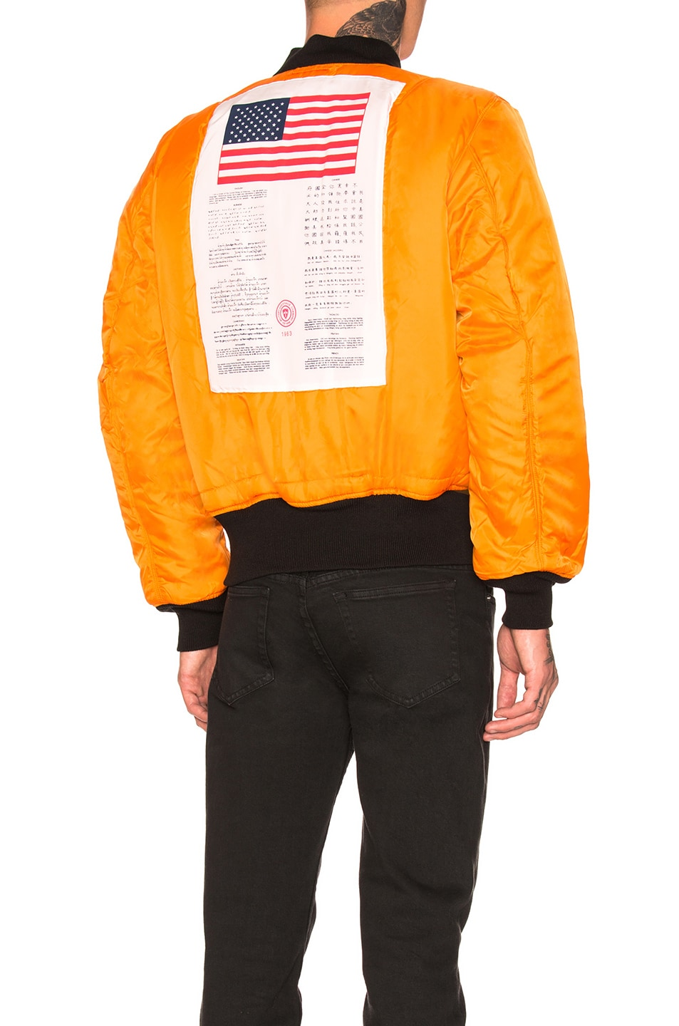 Image 6 of ALPHA INDUSTRIES MA-1 Blood Chit Bomber in Black