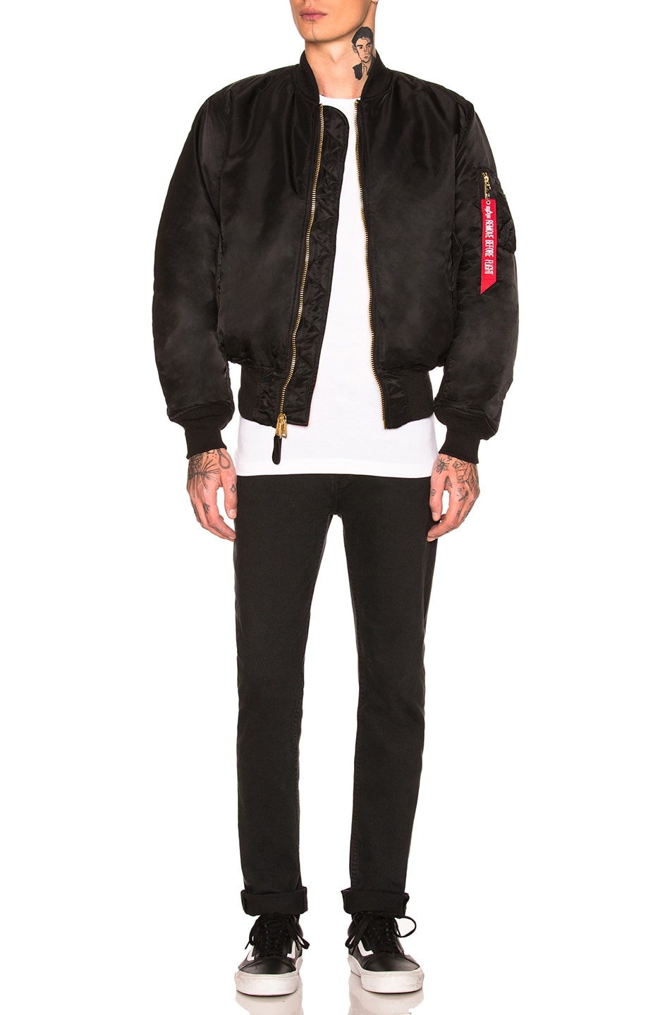Image 7 of ALPHA INDUSTRIES MA-1 Blood Chit Bomber in Black