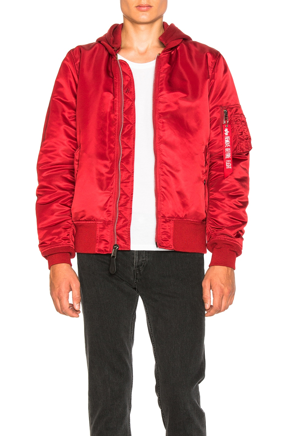 Image 1 of ALPHA INDUSTRIES MA 1 Natus in Commander Red