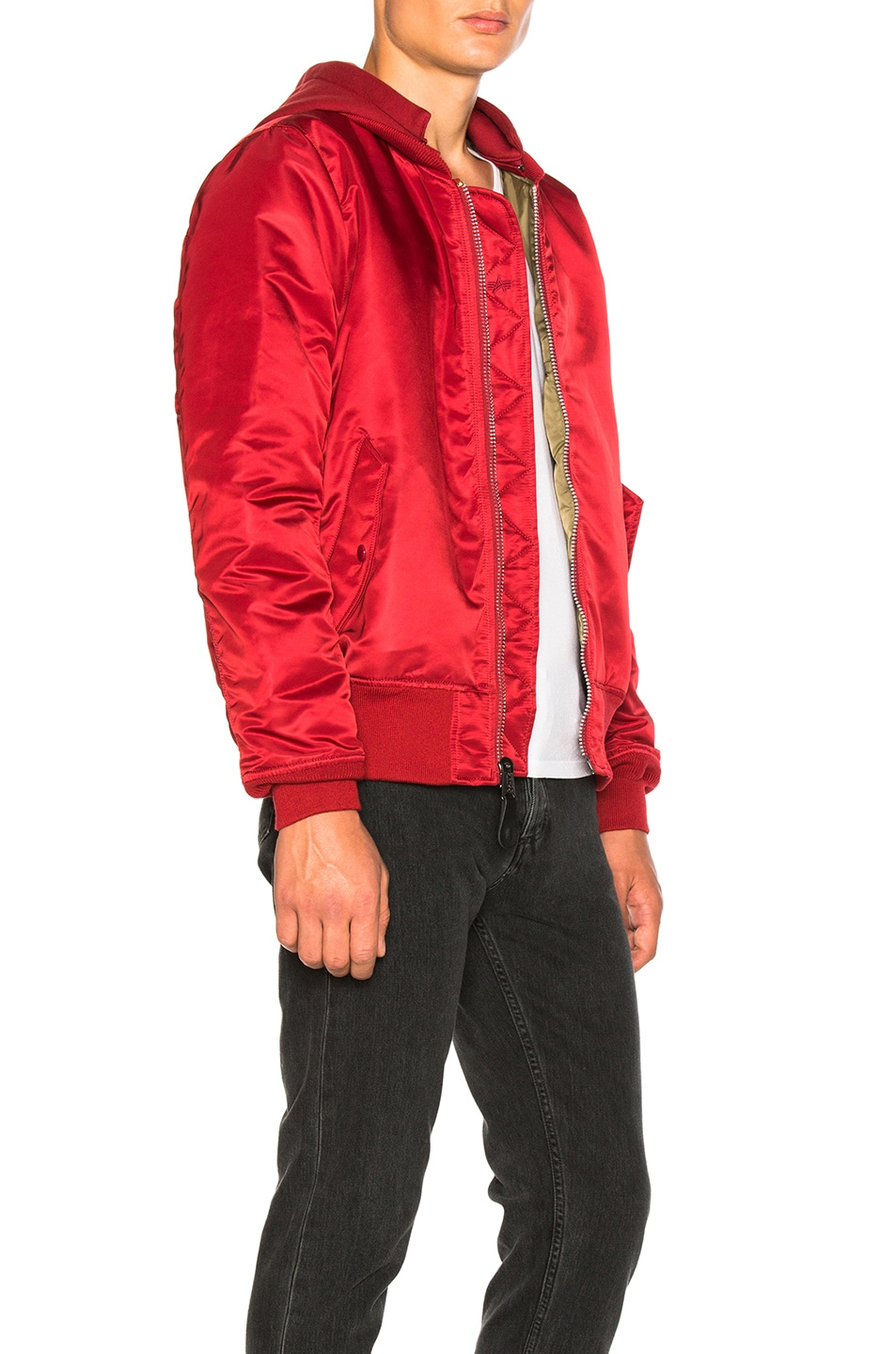 Image 3 of ALPHA INDUSTRIES MA 1 Natus in Commander Red
