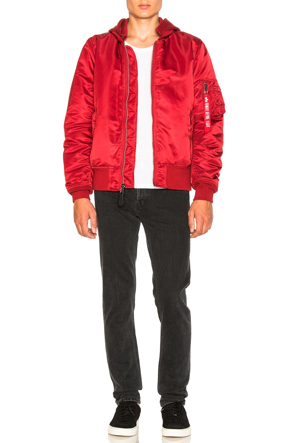 Image 6 of ALPHA INDUSTRIES MA 1 Natus in Commander Red