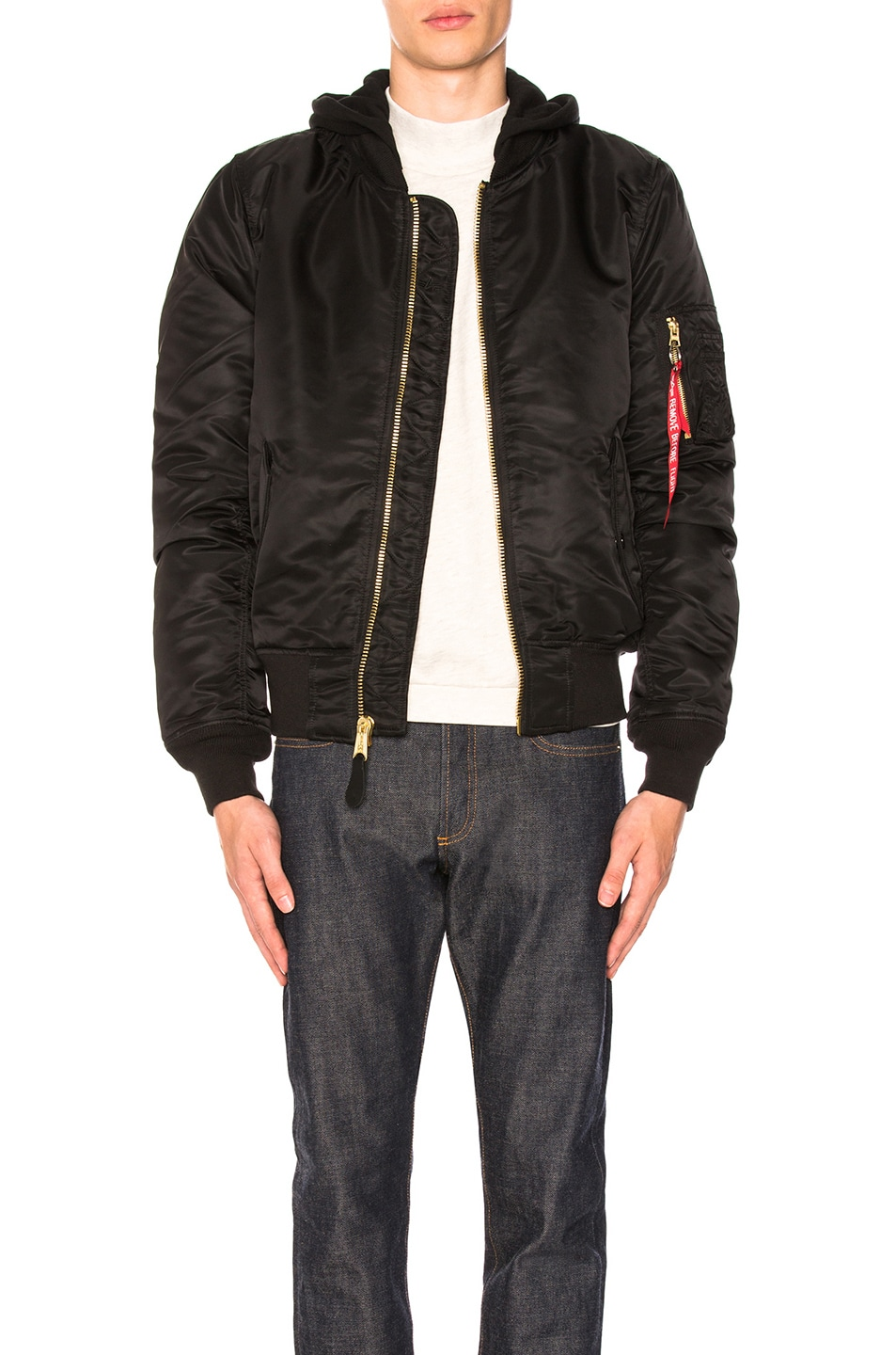 Image 2 of ALPHA INDUSTRIES MA-1 Natus in Black