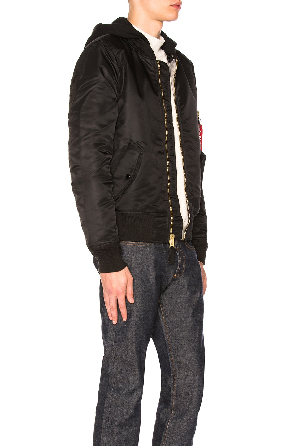Image 3 of ALPHA INDUSTRIES MA-1 Natus in Black