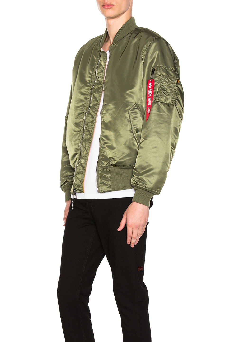 Image 4 of ALPHA INDUSTRIES MA-1 Blood Chit Bomber Jacket in Sage