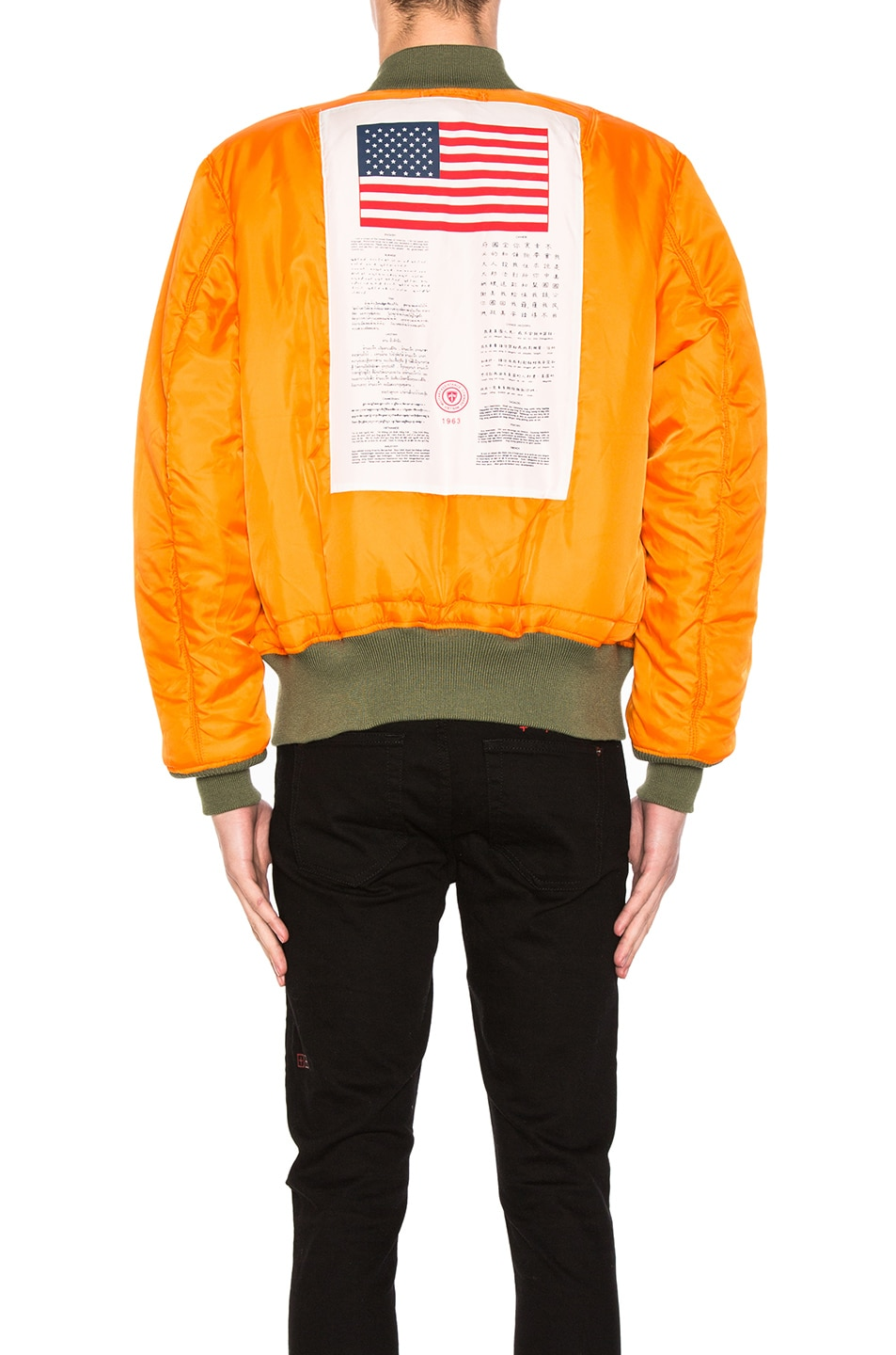 Image 6 of ALPHA INDUSTRIES MA-1 Blood Chit Bomber Jacket in Sage