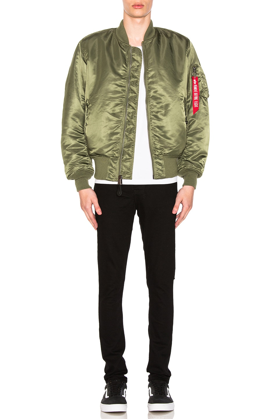 Image 7 of ALPHA INDUSTRIES MA-1 Blood Chit Bomber Jacket in Sage