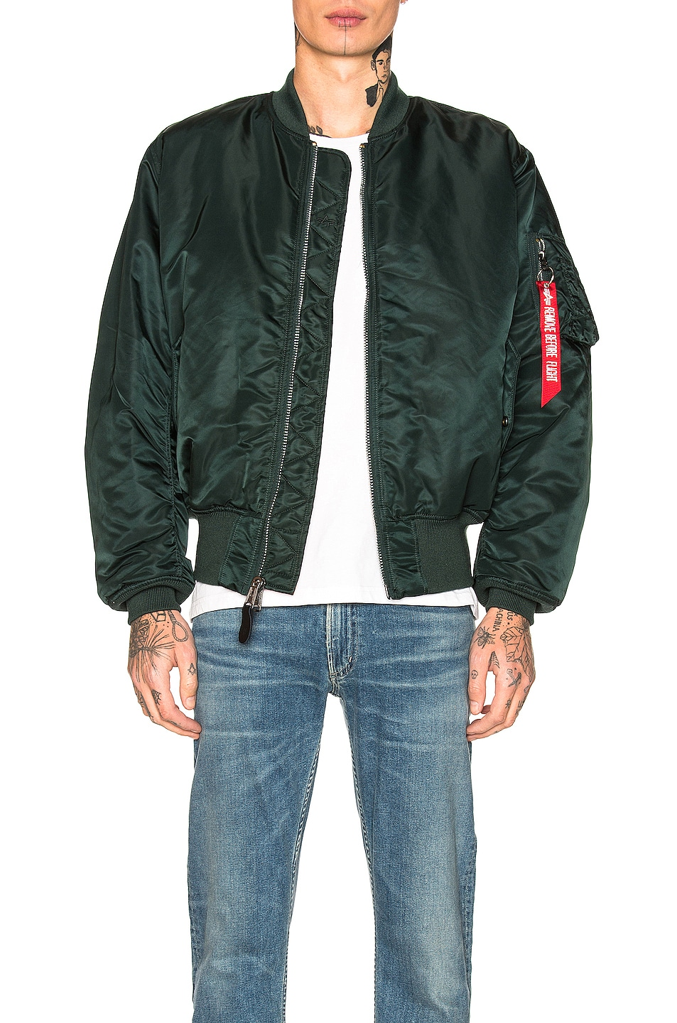 Image 1 of ALPHA INDUSTRIES MA-1 Flight Jacket in Patrol Green