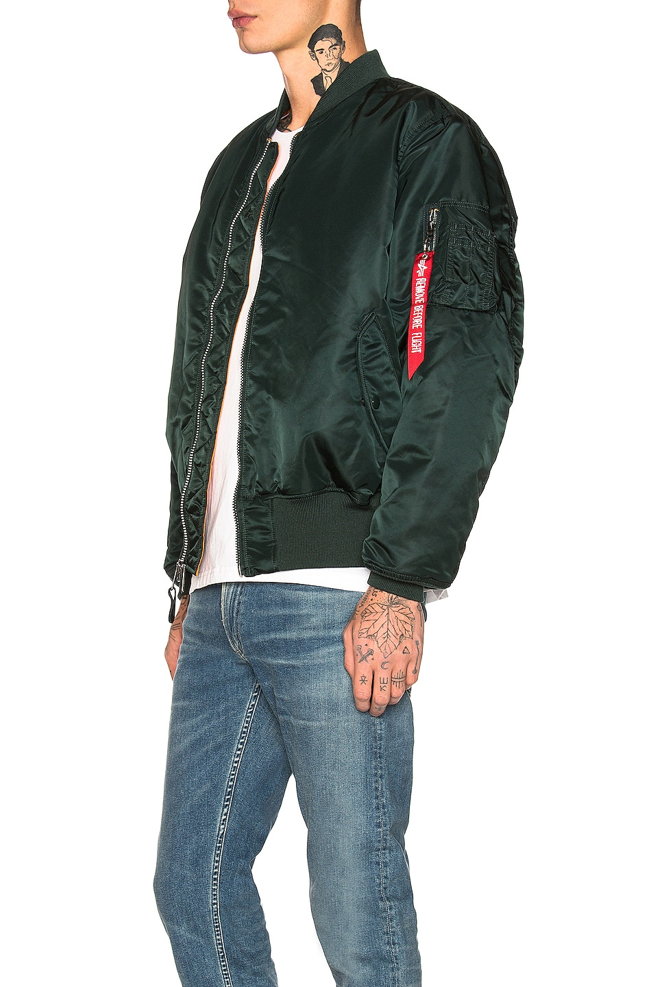 Image 4 of ALPHA INDUSTRIES MA-1 Flight Jacket in Patrol Green