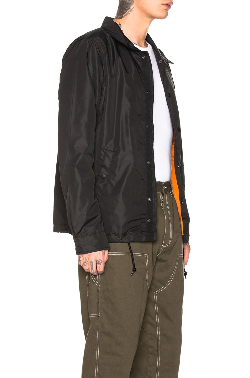 Image 3 of ALPHA INDUSTRIES Lightweight Coaches Jacket in Black