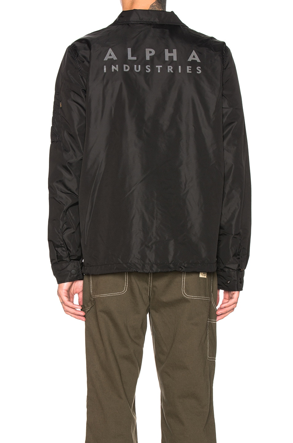 Image 5 of ALPHA INDUSTRIES Lightweight Coaches Jacket in Black