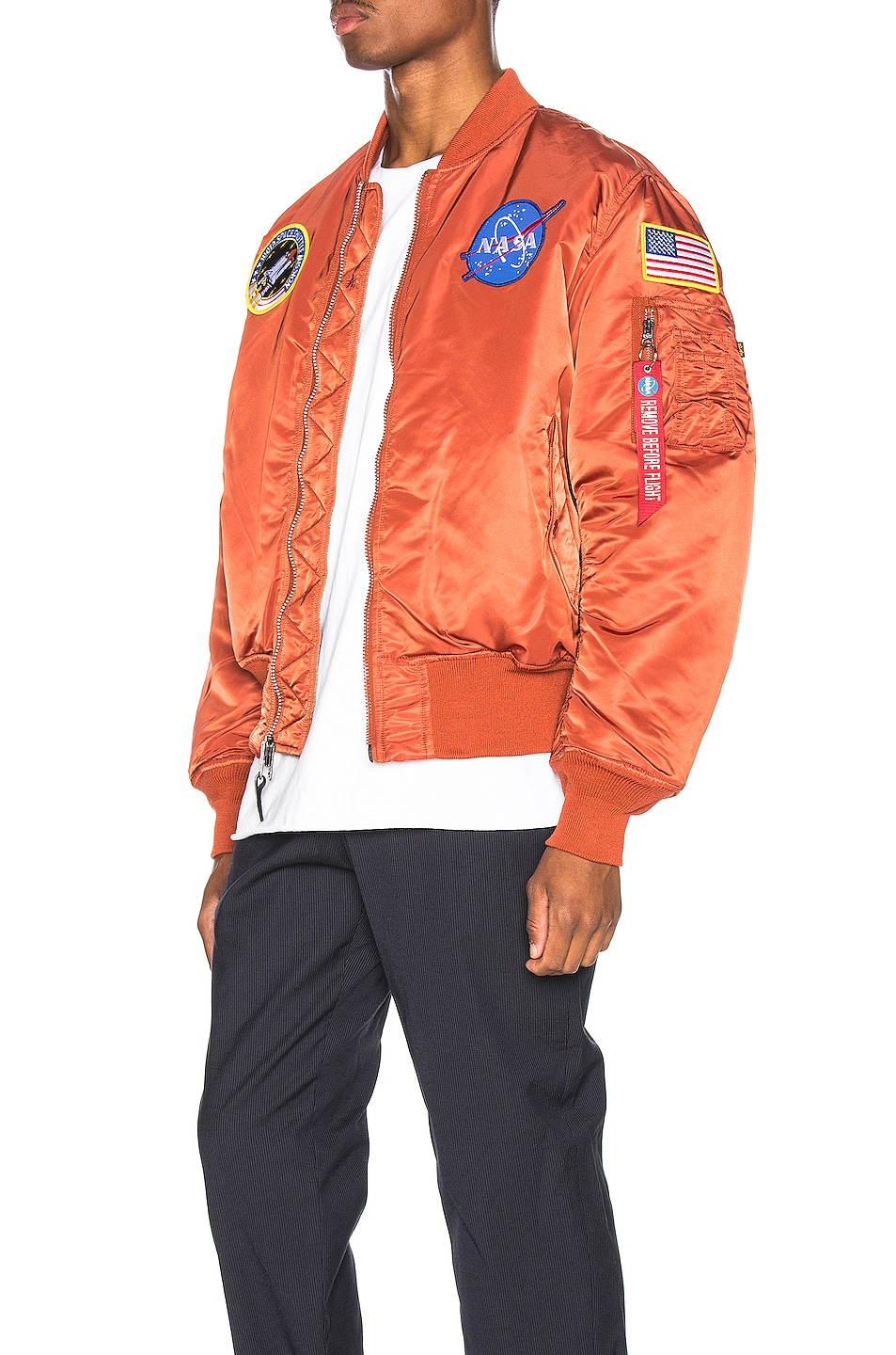Image 4 of ALPHA INDUSTRIES Nasa MA-1 in Rust