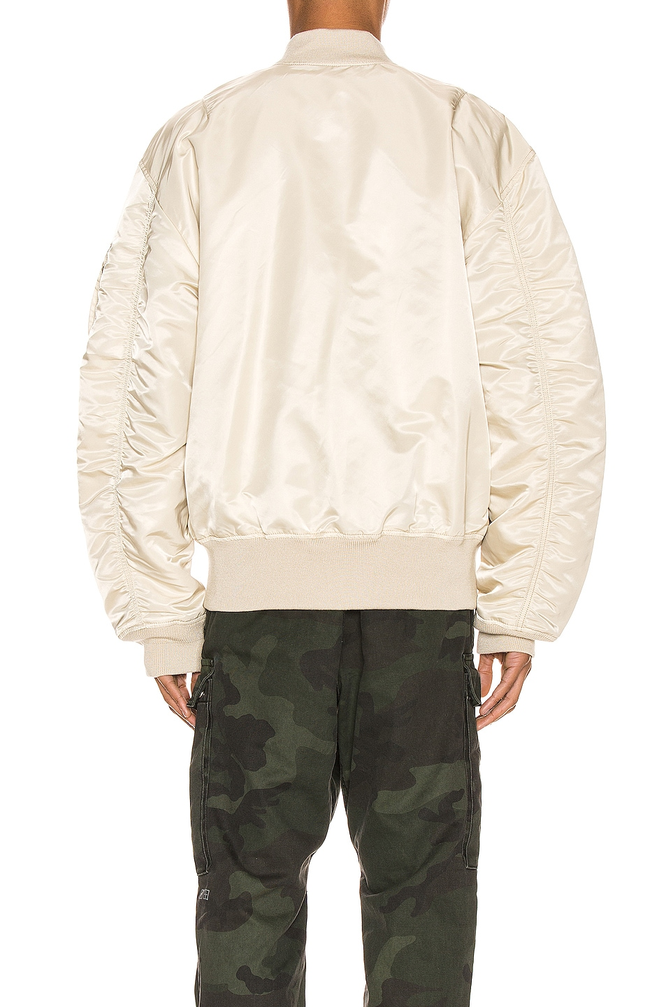 Image 5 of ALPHA INDUSTRIES L-2B Loose Flight Jacket in Vintage White