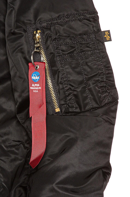 Image 8 of ALPHA INDUSTRIES L-2B Hooded NASA II Jacket in Black