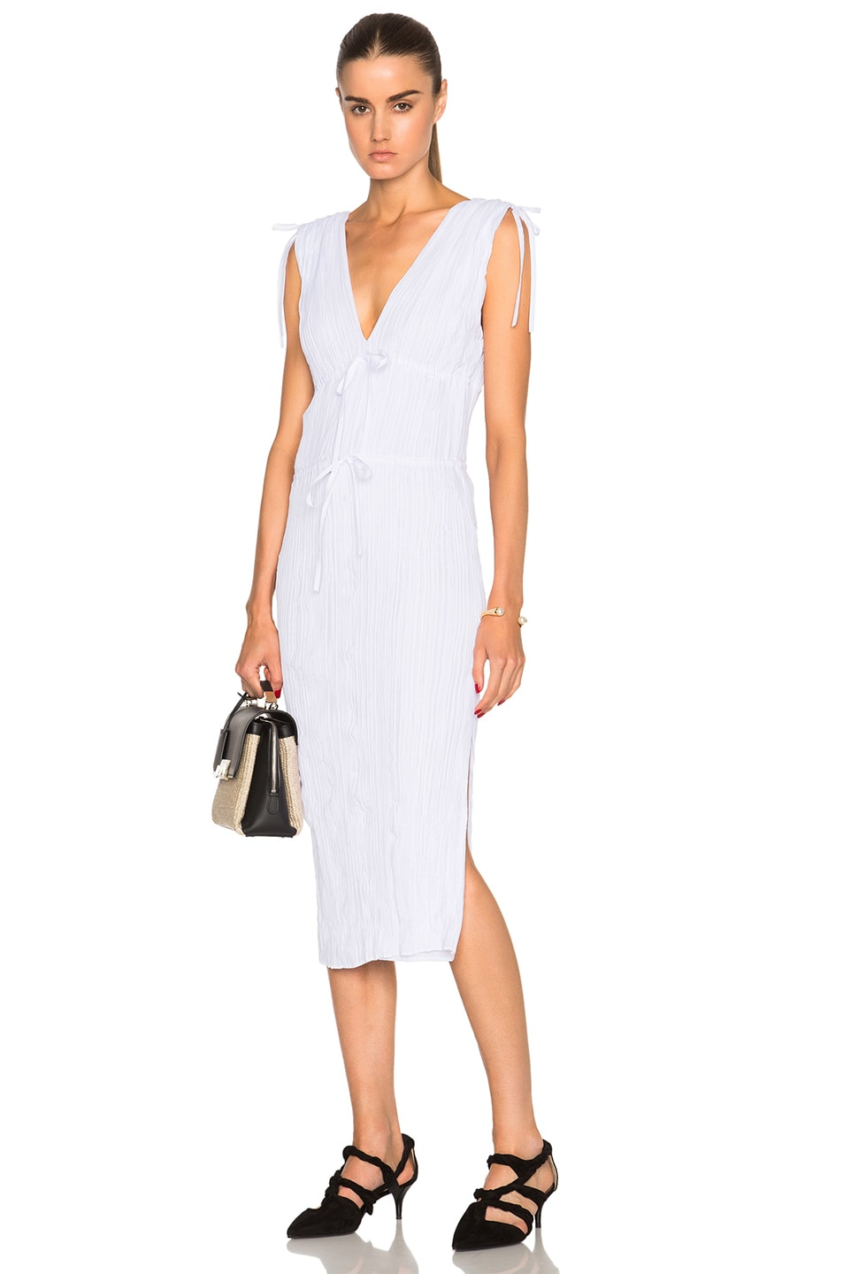 Image 1 of Altuzarra Navarre Featherweight Crepe Dress in Optic White
