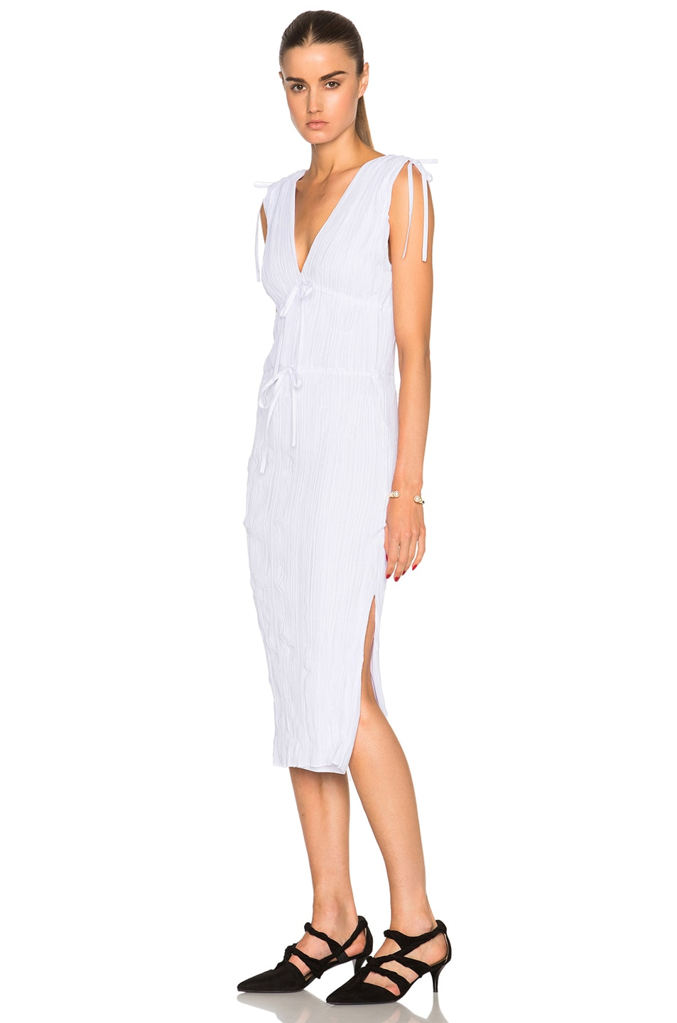 Image 2 of Altuzarra Navarre Featherweight Crepe Dress in Optic White