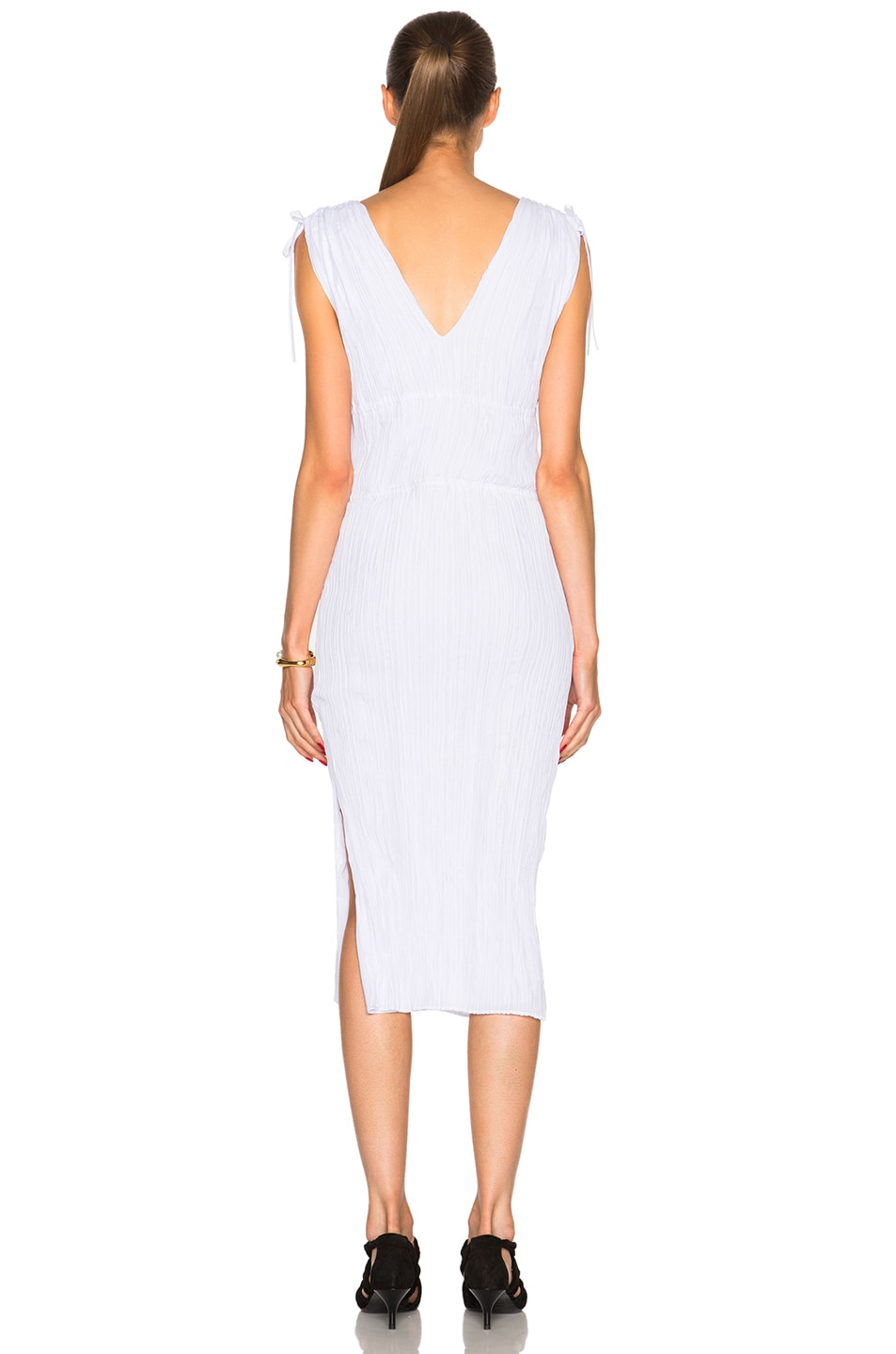 Image 4 of Altuzarra Navarre Featherweight Crepe Dress in Optic White