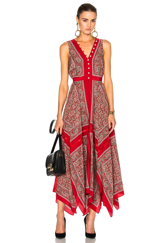 Image 1 of Altuzarra Clemmie Dress in Red Paisley