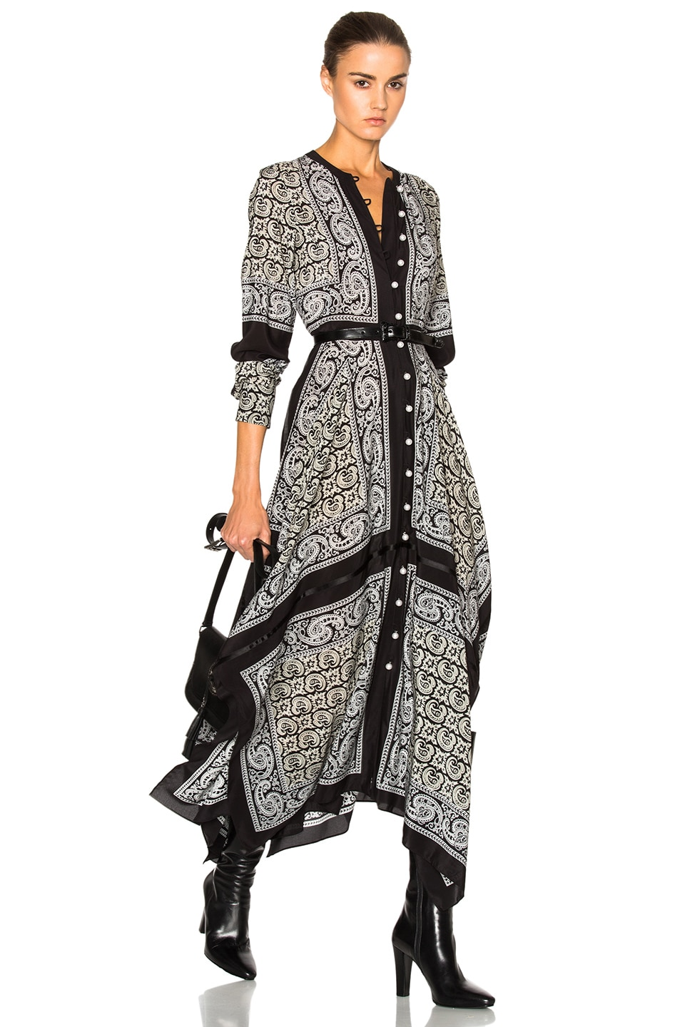 Image 1 of Altuzarra Winnie Dress in Black Paisley