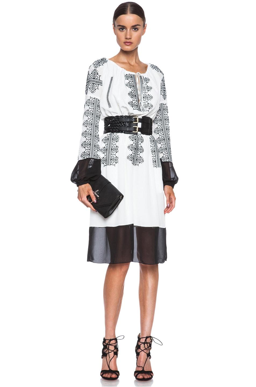 Image 1 of Altuzarra Brigitte Silk Dress in White & Black
