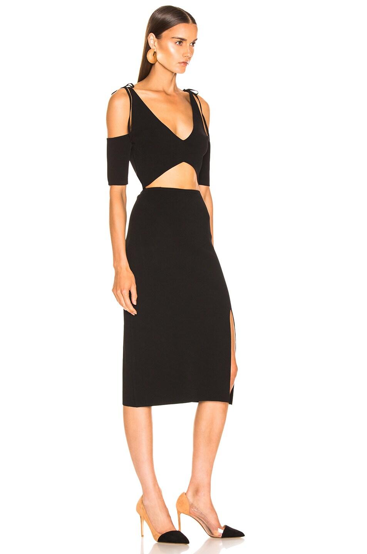 Image 2 of Altuzarra Giovanna Slit Midi Dress in Black