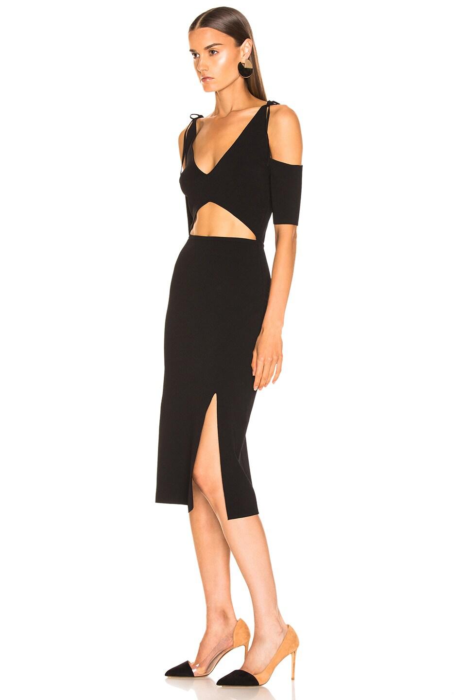 Image 3 of Altuzarra Giovanna Slit Midi Dress in Black