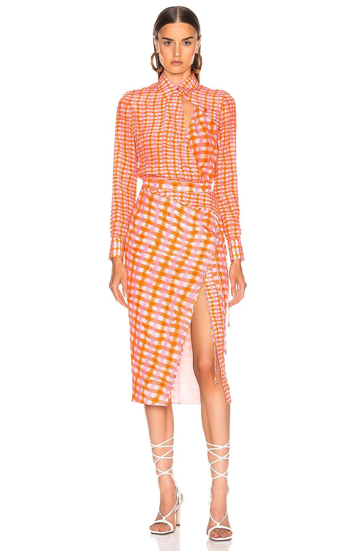 Image 2 of Altuzarra Constantina Plaid Dress in Tropicana