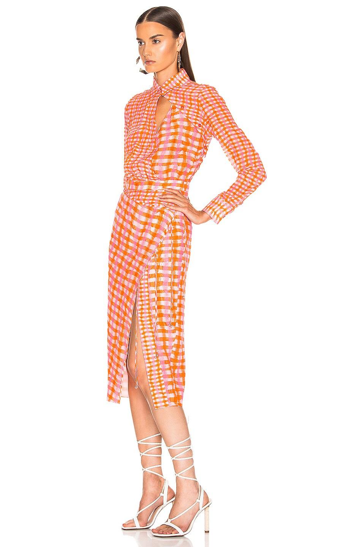 Image 4 of Altuzarra Constantina Plaid Dress in Tropicana